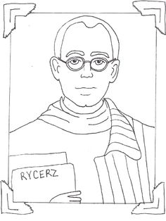 Saint Maximillian Kolbe Catholic Coloring Page