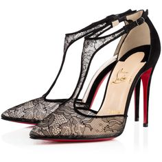 Christian Louboutin Salonu (€840) ❤ liked on Polyvore featuring shoes, pumps, christian louboutin, black, heels, louboutin, sexy black pumps, black heel pumps, heels & pumps and black high heel shoes