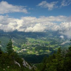Aerial view of Berchtesgaden, Germany