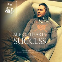 Tom Hardy in our brand new design Ace of Hearts: Success by Sally, Sarah and Tom Luxury Hoodie or Black T-Shirt www.WeAreBLAG.com