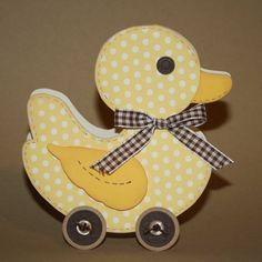 Duck invitations - Baby Shower Invitations - Duck pull toy
