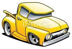 Cartoons Pickup Trucks | Cartoon Classic Truck Royalty Free Stock Vector Art Illustration