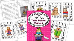 Teaching With Love and Laughter: Table Points Posters