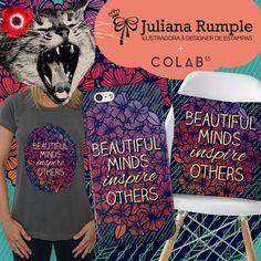 Arte Beautiful Minds por Ju Rumple :: Colab55