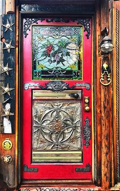Home Front Door Ideas for Your Inspiration. The entrance gate of the residence is one of many things that many people will talk about. Through this model of the front door, one can learn how to fil… Cool Doors, Unique Doors, The Doors, Entrance Doors, Doorway, Windows And Doors, Gouts Et Couleurs, Doors Galore, Knobs And Knockers