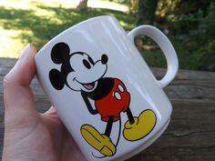 Vintage Disney MICKEY MOUSE Coffee/Tea Ceramic Mug. Souvenir. on Etsy, $12.00