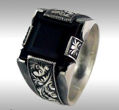 Mens silver ring Mens Ring Hand made Trendy jewelry by zafMENS Aneis, Anéis  Masculinos, f9f7b28e67