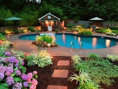 landscaping a pool area ideas   swimmingpool 25 Lovely Outdoor Landscaping Ideas