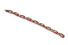 Fine Jewelry Fine Bracelets Flight Tracker Siam Sterling Silver 925 White Enamel Niello Mekkala Lightening Goddess Bracelet