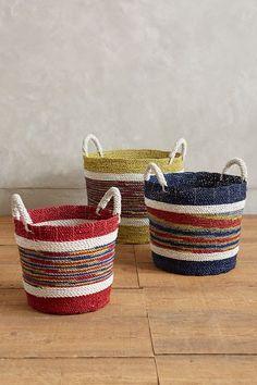 handmade market stripe basket #anthrofave
