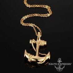 Men Anchor Necklace - Titanium Steel