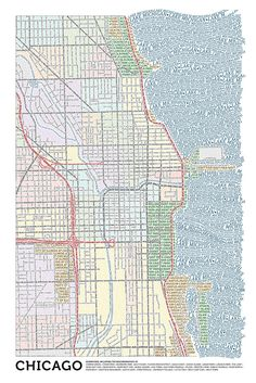 Chicago (Color) | Typographic Maps  Holy cow that's cool!  I want it!