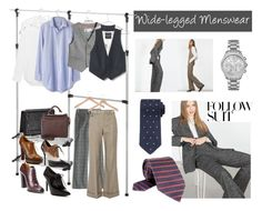 Menswear Inspired: Wide Leg Pants by istyled on Polyvore featuring polyvore, fashion, style, Madewell, Equipment, Zara, Chloé, J.Crew, Ralph Lauren, Sigerson Morrison, Gucci, 3.1 Phillip Lim, Michael Kors, Tom Ford, Whitmor, PERIGOT, Mike + Ally, Ermenegildo Zegna, women's clothing, women's fashion, women, female, woman, misses, juniors, WorkWear, menswear, widelegpants and fall2015