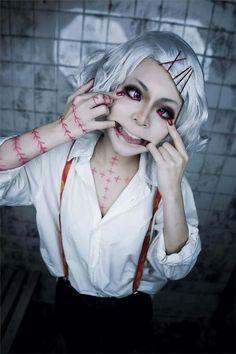 From Tokyo Ghoul I guess. Edit: I've been informed that this lovely smile belongs to Juzo Suzuya from Tokyo Ghoul