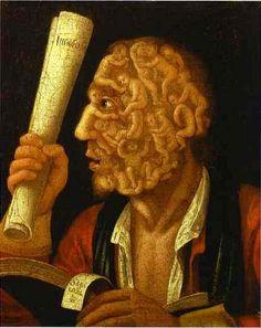 Painting by Giuseppe Arcimboldo 1527-1593...