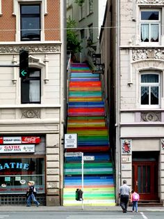 Rainbow stairs by Horst Glasker