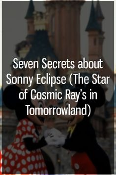 Sonny Eclipse is the resident lounge singer of Cosmic Ray's Starlight Café in Magic Kingdom's