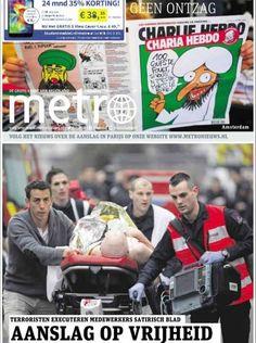 metro Charlie Hebdo, Journal, Baseball Cards, Cover, Sports, Europe, Netherlands, January 8, Hs Sports