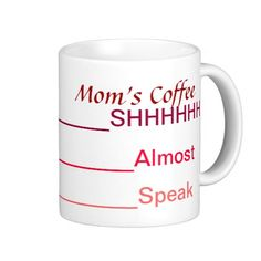 """Coffee Meter Coffee Mugs humorous mug for mom! Perfect to let the family know, """"Don't talk to mom, until her coffee is gone!"""" Perfect for MOther's Day, birthday, new baby, Christmas, any gift giving occasion!"""