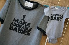 "Fathers Day Gift - Could adapt to say ""Adorable Kids"" and then use shirts for all four, ""Adorable Kid #1-4"""