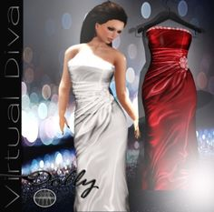 Virtual Diva Dolly Gown Red