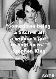 If standing up for myself and doing what I want with MY life makes me a bitch, then so be it. ☝
