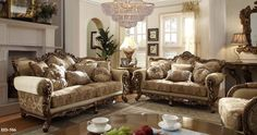 2 Piece Traditional HD-506 Living Room Set (Use Coupon Code FREESHIP17 FOR FREE SHIPPING)