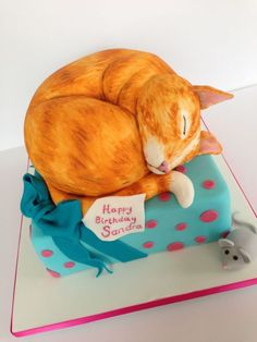 ginger cat cake - Google Search