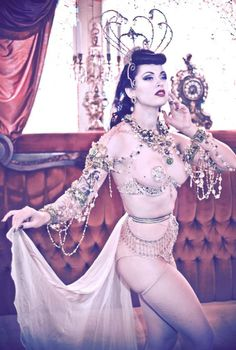 Belly dancer pin up girl I guess lol