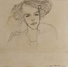 Mädchenbildnis - Egon Schiele