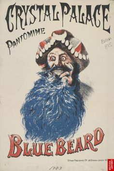 Advert for a Pantomime at Crystal Palace; 1883 - reminds me of one of the cartoons