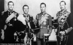 King George V's four of six children: Prince George (Duke of Kent), Prince Edward (Edward Vlll), Prince Albert (King George Vl), Prince Henry (Duke of Gloucester)