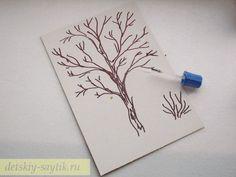 рисуем силуэт дерева