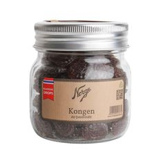 Drops: Kongen av Danmark på Norgesglass - Hyttefeber.no Mason Jars, Protein, Salt, Gluten, Drop, Products, Mason Jar, Salts, Gadget