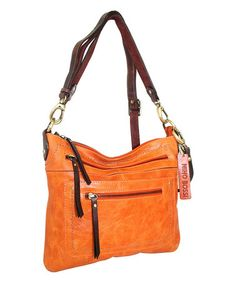 Another great find on #zulily! Orange Callie Crossbody Bag by Nino Bossi Handbags #zulilyfinds