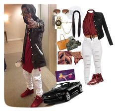 """""""Turn up wit Aug"""" by elmowatson ❤ liked on Polyvore featuring beauty, MCM, Forever 21, NIKE, Ray-Ban, Kenneth Cole, Amici Accessories and LE3NO"""