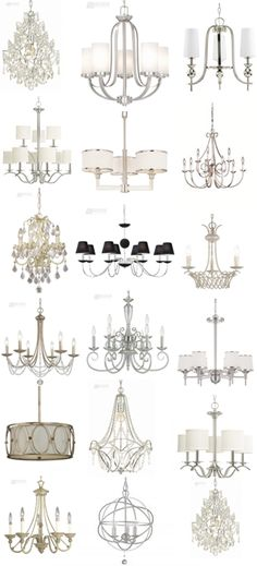 Gorgeous light fixtures all under $300! Need to start adding chandeliers slowly!