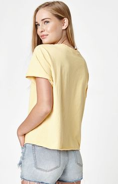 John Galt Short Sleeve Honey T-Shirt - Yellow Laid Back Style, Short Sleeves, Tees, Cotton, T Shirt, Quebec, Honey, Yellow, Products