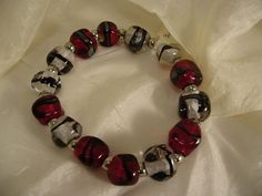 11C Bracelet Penso rouge et cristal   Flickr: partage de photos!