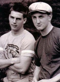 Tom Cruise and Sean Penn,1981.