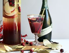 Sparkling Autumn Sangria..... 1 red apple, thinly sliced, 1 Granny Smith apple, thinly sliced, 1 cup cranberry juice, 1 cup frozen cranberries, 3 cinnamon sticks, 1 bottle of Mionetto Prosecco (chilled).....Combine the fruit, cinnamon, and cranberry juice in a large pitcher. Chill in refrigerator for at least one hour, up to overnight. Before serving, add Mionetto Prosecco to pitcher. Pour into glasses and serve! #mionetto #prosecco #cocktails #fall