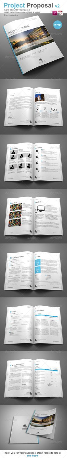 Business Proposal Template Single Page US Letter Proposals - project proposals template