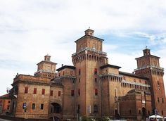 Castello Estense, Ferrara - where Isabella grew up and Lucrezia spent the majority of her adult life.