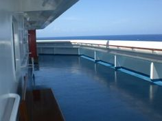 """A guide to the """"Secret decks"""" on cruise ships and where they are located on what Carnival boats.  They're not really secret, just a little bit less crowded observation deck that is usually unmarked."""