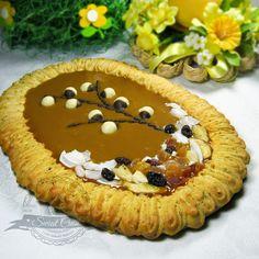 Mazurek migdałowo-kajmakowy | Świat Ciasta