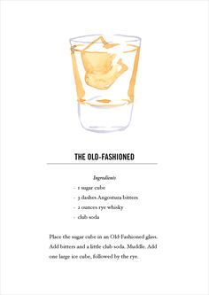 fashioned cocktail recipe card postcard back buy all Cocktail List, Cocktail Book, Cocktail Drinks, Cocktail Recipes, Drink Recipes, Old Fashioned Recipe Card, Old Fashioned Drink, Old Fashioned Recipes, Cocktail