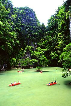 Nice place for kayaking in Phang-Nga province, southern Thailand. Phuket Thailand, Thailand Travel, Sea Cave, Khao Lak, 18 Days, Canoe Trip, All Nature, Nice Place, Travel And Tourism