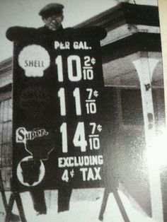 Gas Prices During the great depression.