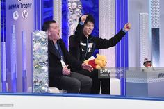 Yuzuru Hanyu of Japan celebrates after performing in the men's short program during the day one of the NHK Trophy ISU Grand Prix of Figure Skating 2015 at the Big Hat on November 27, 2015 in Nagano, Japan.