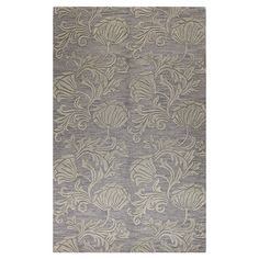 Hand-tufted+wool+rug+with+floral+motif.  +++Product:+RugConstruction+Material:+100%+WoolColor:+Gr...